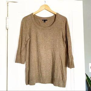 GAP Brown 3/4 Sleeve Sweater